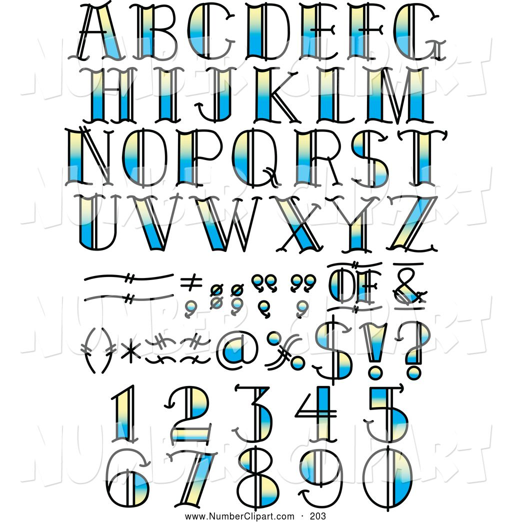 Number Designs Clip Art