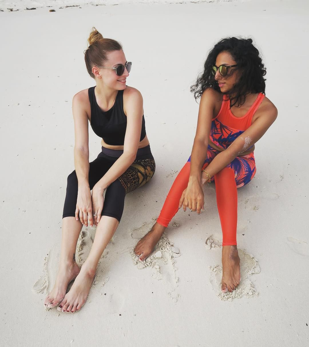 657fbdfb2a3a5c Rachel wears Anna leggings and crop top Jodie wears Catrina leggings and Black  Racer crop top. Available online. Link in bio.
