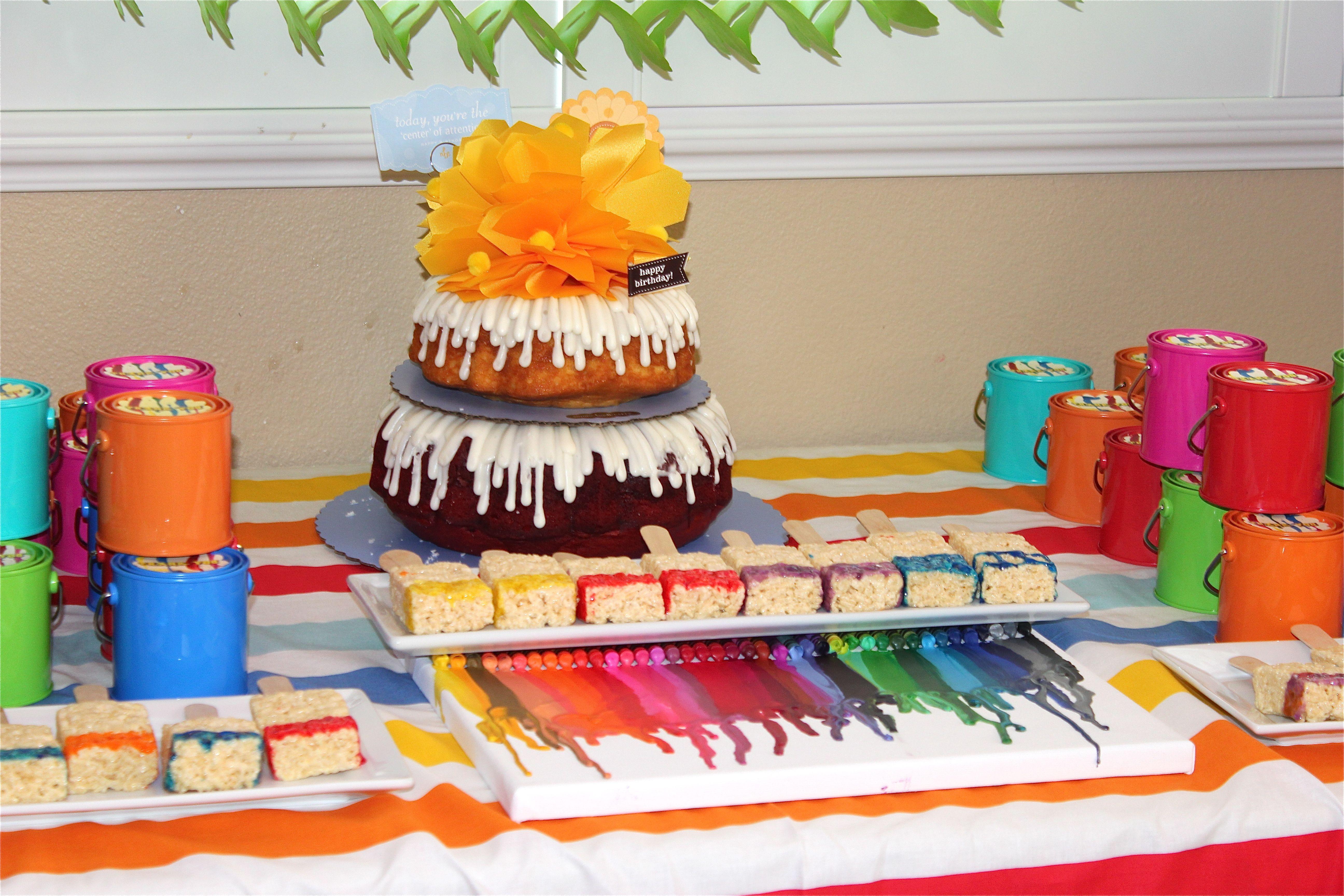 Art Party Birthday Cake Nothing Bundt Cakes Wwwtalaeventscom - Bundt birthday cake