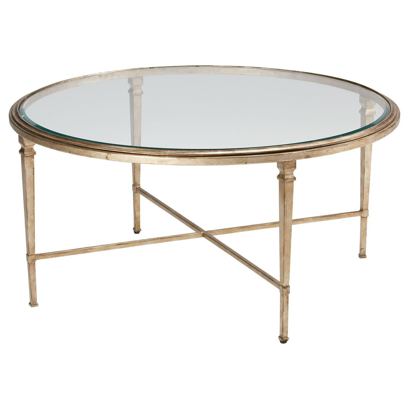 Ethan Allen Trevor Coffee Table: Silver Home Decor. Heron Round Coffee Table