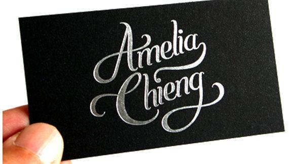 200 business cards black 14pt matte stock by printforbrands - Silver Foil Business Cards