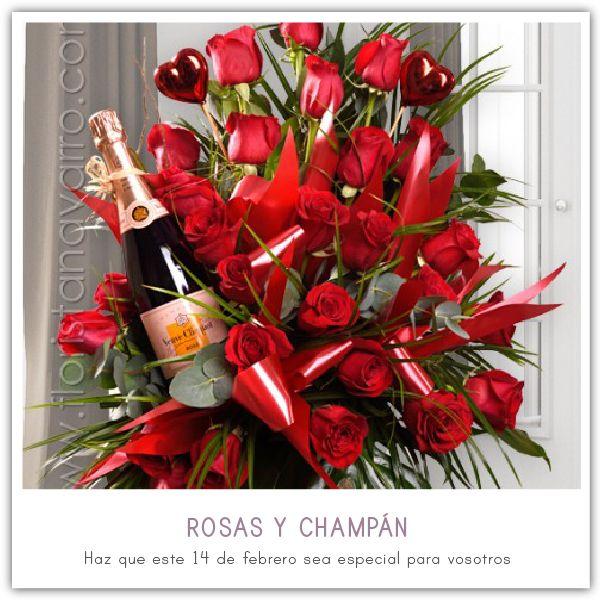 Este #SanValentín vive una noche de #amor inolvidable. Descubre nuestros ramos especiales y enamórate como el primer día. Visita nuestra tienda Online y descúbrelos por ti mismo. http://www.floristanavarro.com/es/flores-san-valentin/173-rosas-y-champan.html