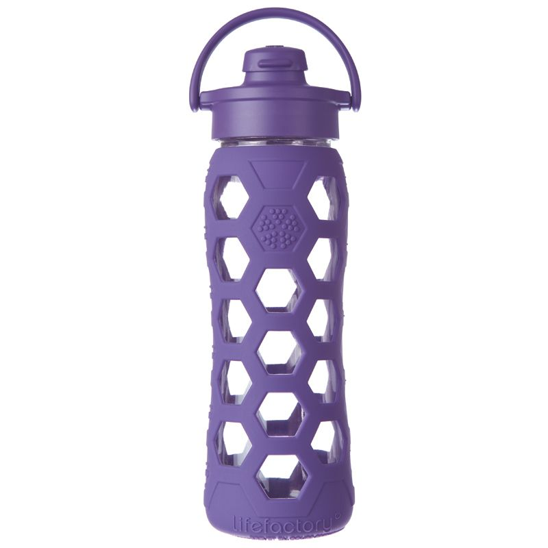 Royal Purple BPA Free Reusable Glass Water Bottles by Life Factory - BuyGreen.com - $23