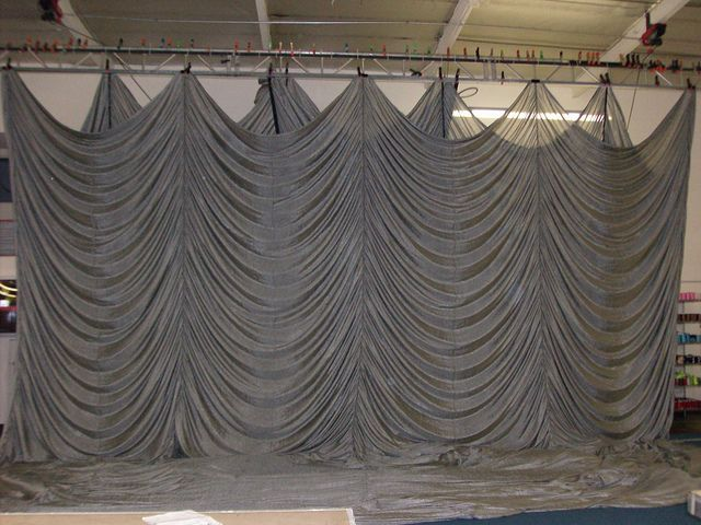 Sew What? Inc Flame Retardant Silk Austrian Stage Curtain | stuff ...