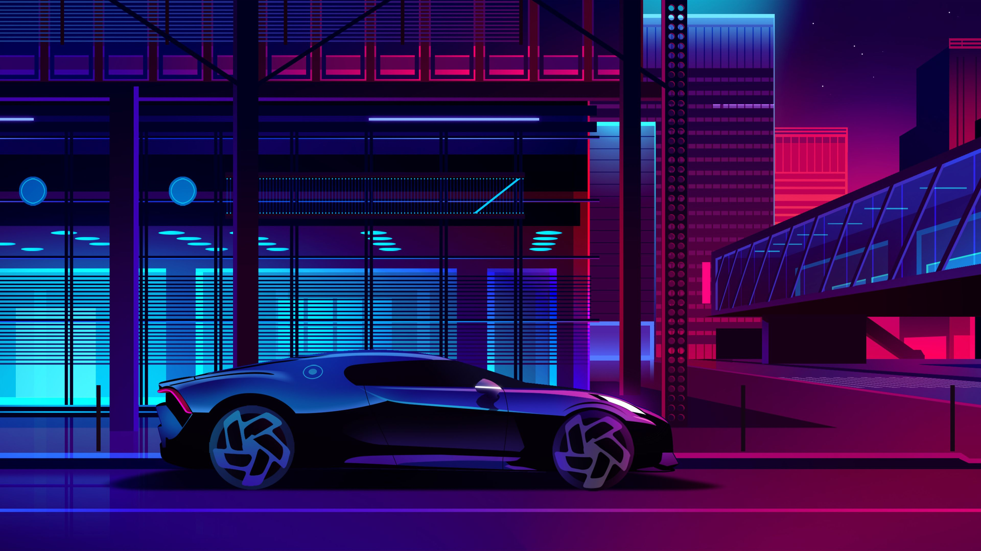 Bugatti Noire Neon Art Retrowave Wallpapers Neon Wallpapers Hd Wallpapers Digital Art Wallpapers Cars Wallpapers Bugatti Wal In 2020 Neon Art Bugatti Illustration