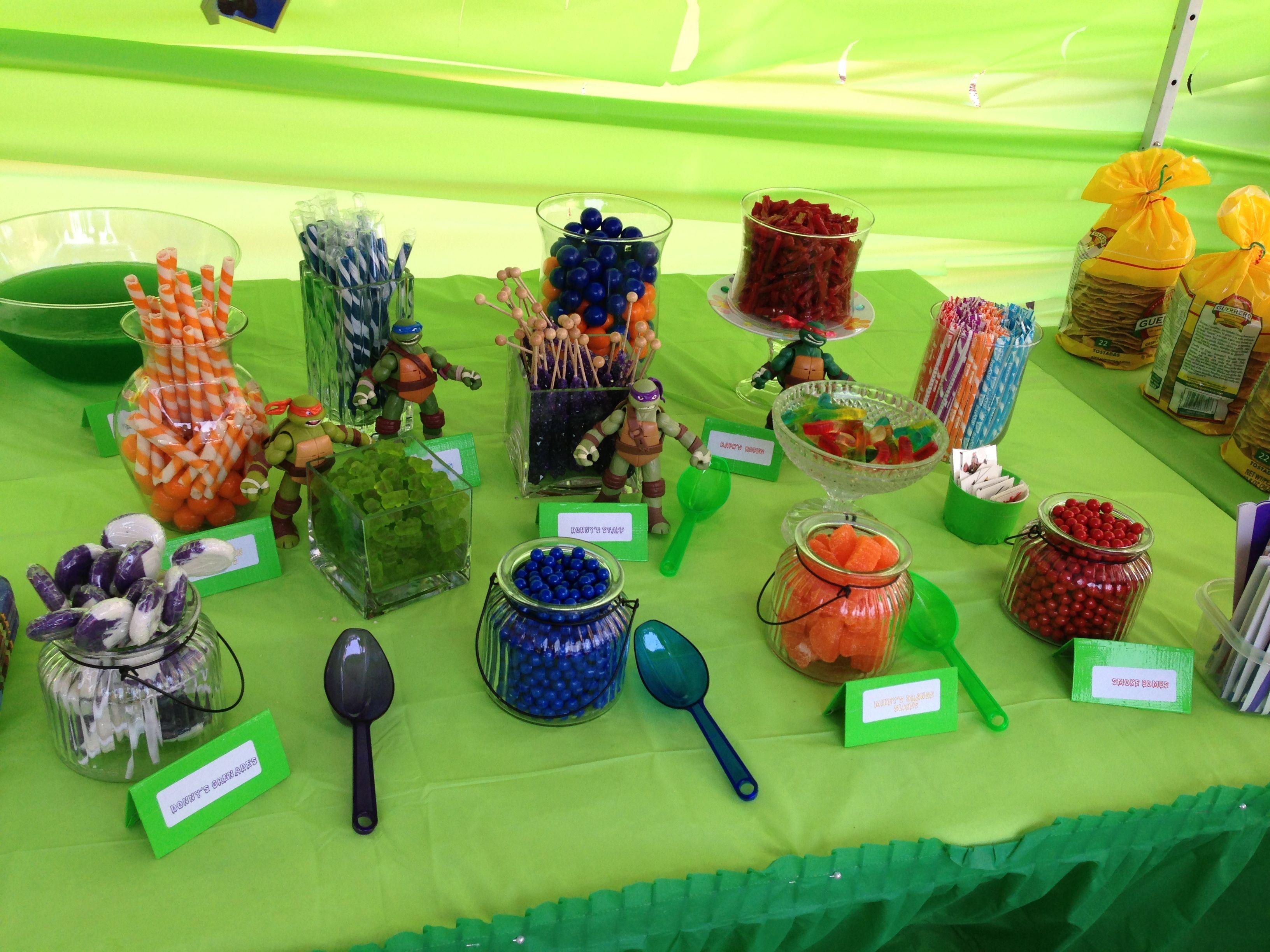 Pin By Haley Eaton On Celiana S Birthday Tmnt Party Ninja Party Ninja Turtle Party