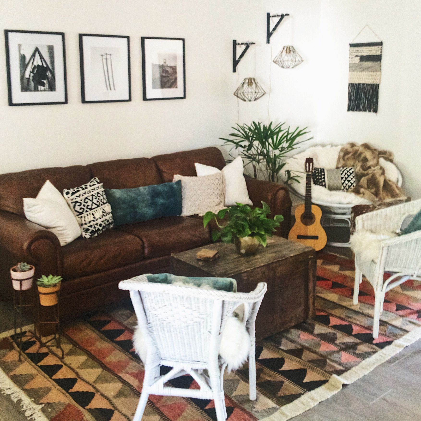 Mid Century Bohemian Mix clean lines with soft rustic accents We