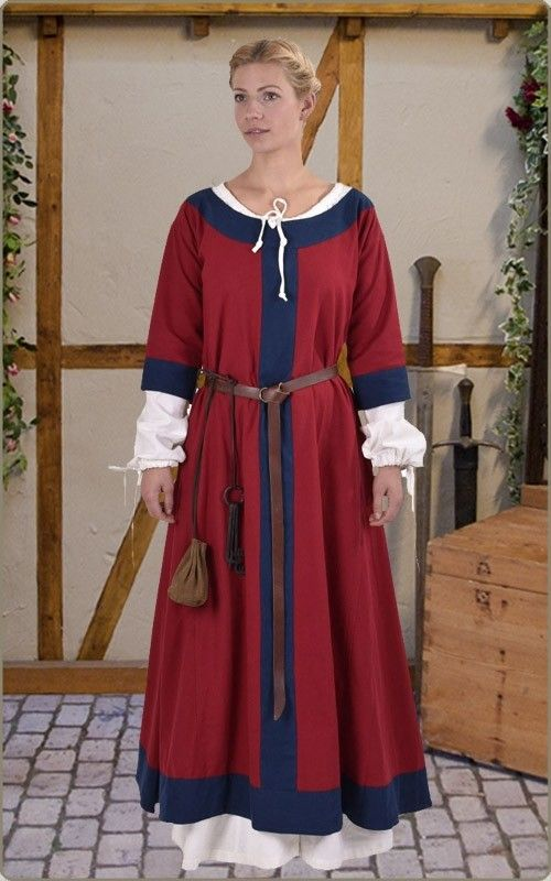 frühmittelalter-Überkleid | kleider nach stil, mittelalter