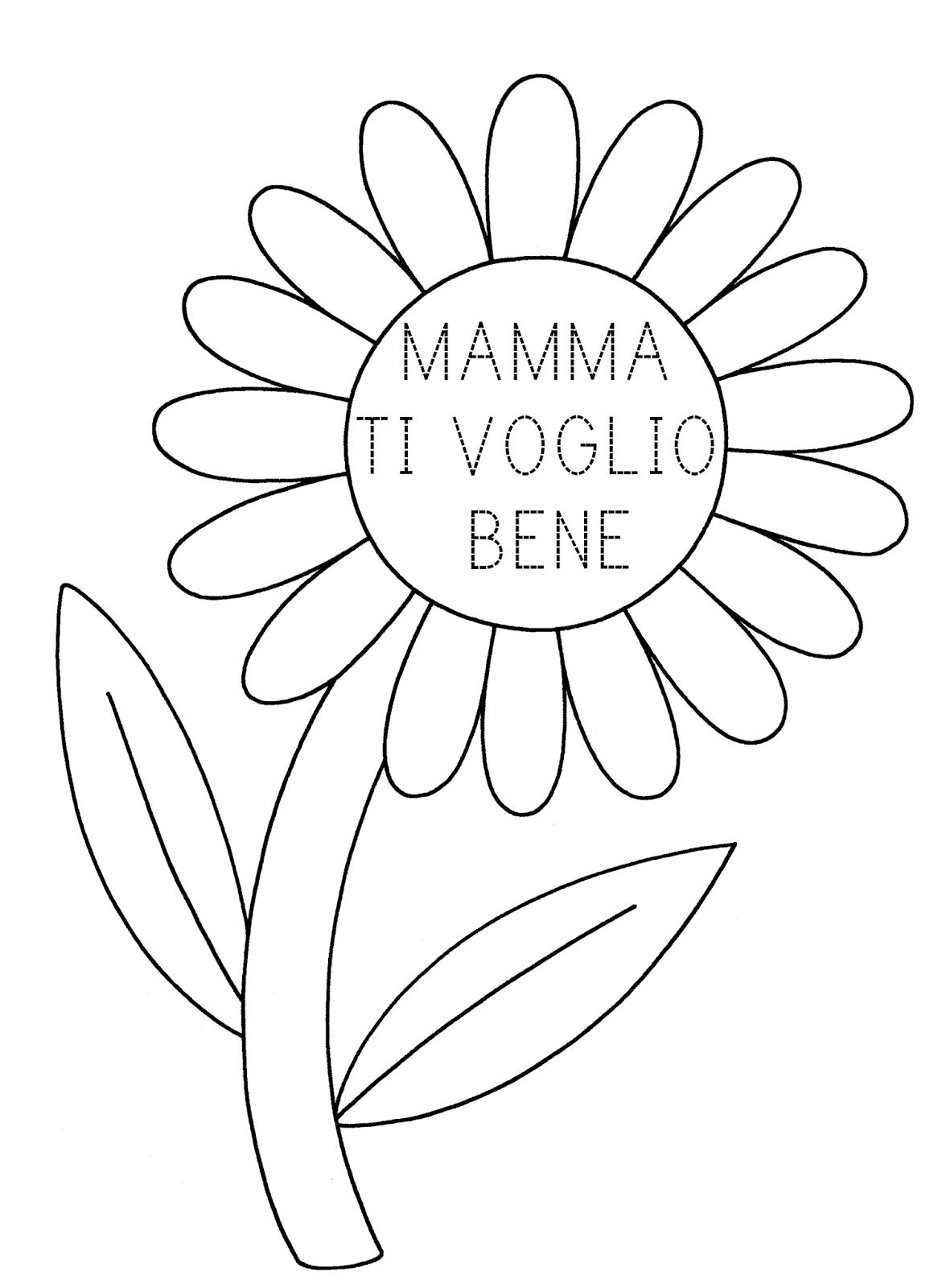La Maestra Linda Festa Della Mamma Da Colorare Primavera