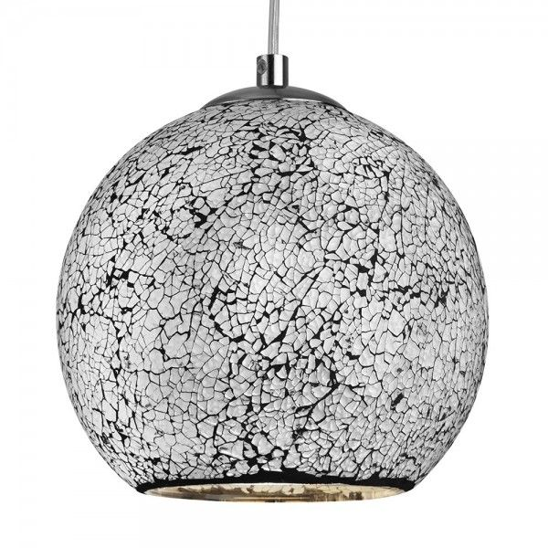 TheAura 1L WhiteRoundPendant has a stunning whitemosaic effect shade that is sure to brighten up any room Supplied with flex cable suspension,allowing you to adjustthe height to suit you and your home #lighting