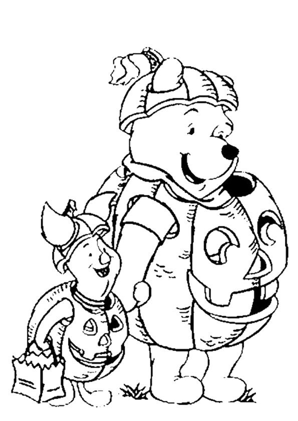 Print Coloring Image Momjunction Bear Coloring Pages Halloween Coloring Pages Disney Halloween Coloring Pages