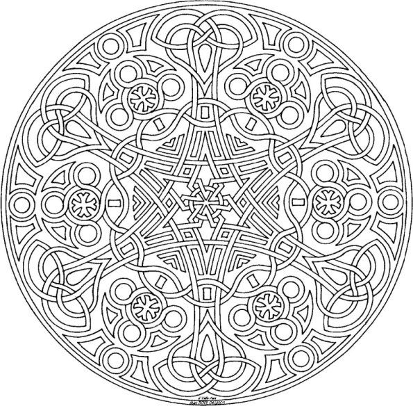 mandala coloring pages printable | 101 Ideas: 25. Mandala Coloring ...