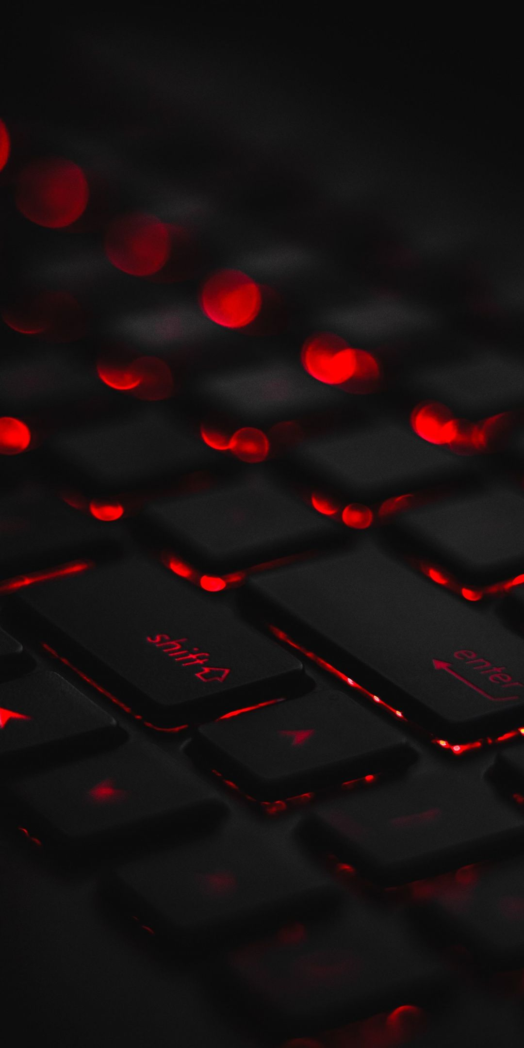 Keyboard Dark Red Glow 1080x2160 Wallpaper Bokeh Wallpaper Keyboard Hd Wallpaper Iphone