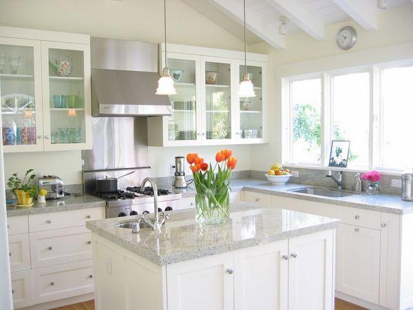 Granite Colors For White Cabinets Kashmir White Granite Countertops