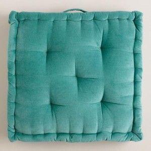 Cost Plus World Market Aqua Velvet Floor Cushion | studio.41 ...