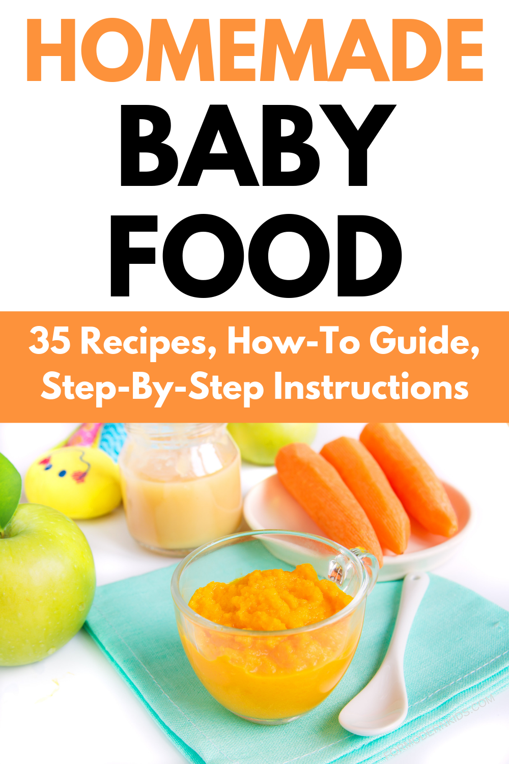 Stage 1, 2 and 3 Homemade Baby Food Recipes and Step-By ...