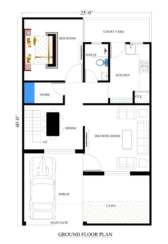25x40 House Plans For Your Dream House House Plans Unique Floor Plans House Floor Plans Small House Plans
