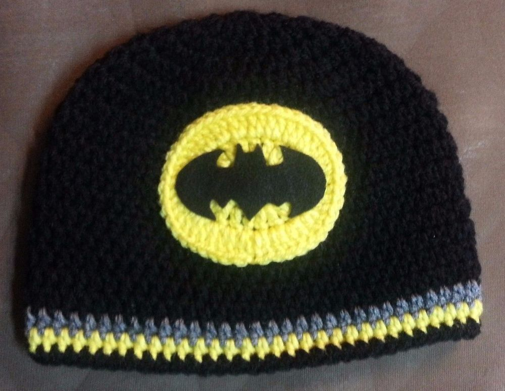 New crochet batman hat newborn to adult | Gorros, Gorro tejido y Tejido