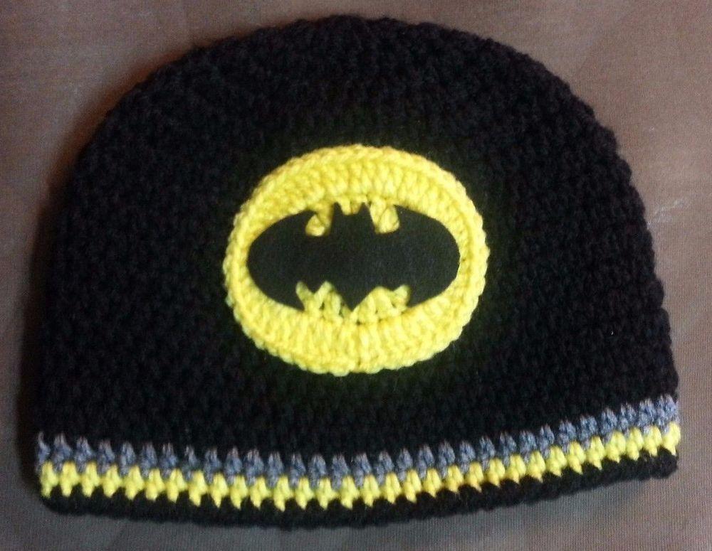 New Crochet Batman Hat Newborn To Adult Crochet Hats Pinterest
