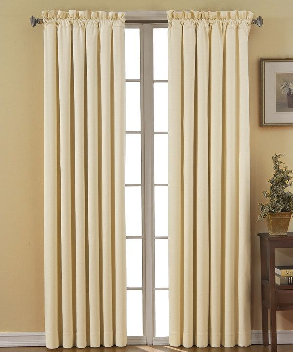 Ivory Canova Eclipse Blackout Curtain Panel By Ellery Homestyles