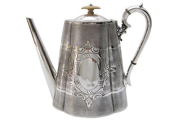 Engraved English Coffee Pot, C. 1865 on OneKingsLane.com