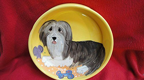 Water Bowl 10 Dog Bowl for Food or Water Personalized at no Charge Signed by Artist Debby Carman >>> You can find more details by visiting the image link.
