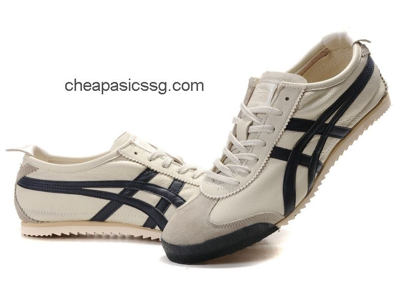 Onitsuka Tiger Mexico 66 Deluxe Shoes Beige Deep Blue  onitsukatiger ... 937e7542ff50b
