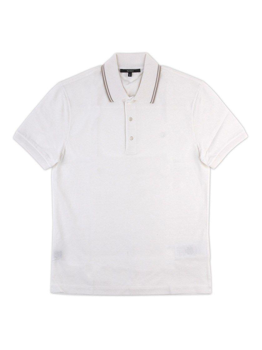 3da9a71e6a2 GUCCI White Cotton Polo Shirt.  gucci  cloth  polo shirts