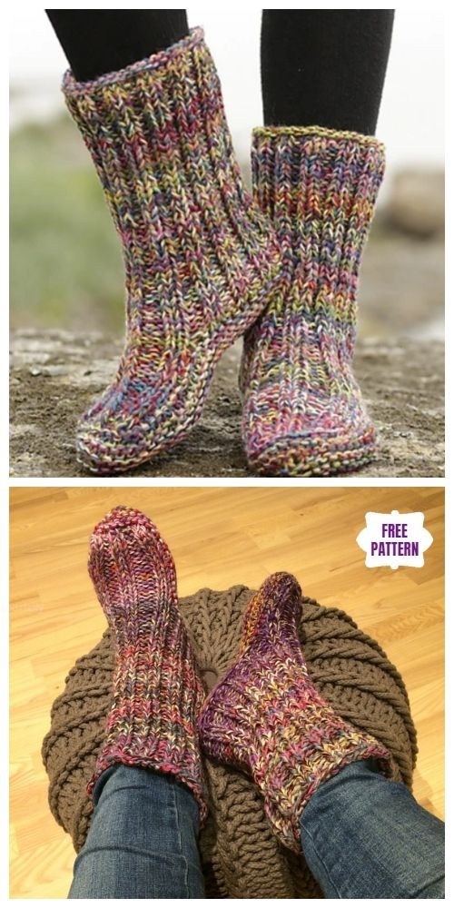 Photo of Knit Ribbed Garter Stitch Slippers – Free Knitting Pattern