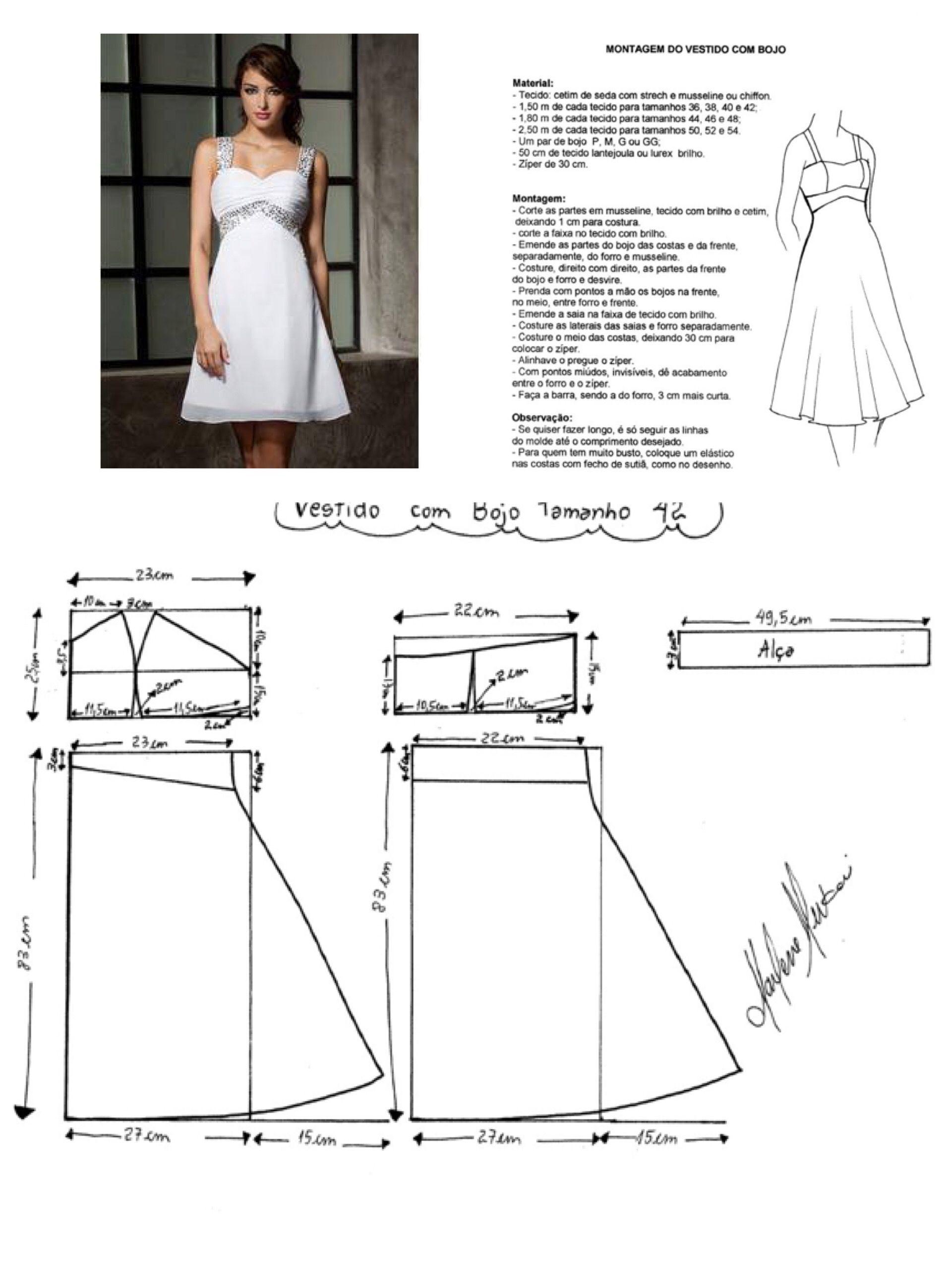 Vestido ok | vestidos | Pinterest | Patrones, Costura y Molde