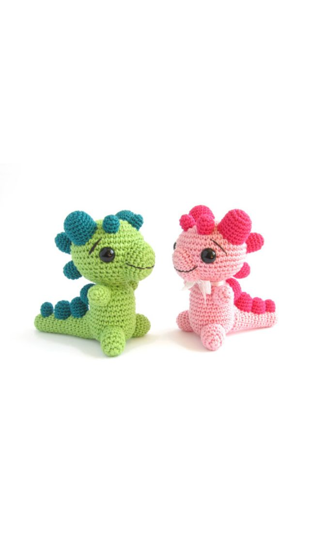 Cute crocheted dragons :-) | Crochet - Dinosaurs And Dragons ...