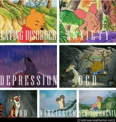 Psychological disorders of Winnie the Pooh