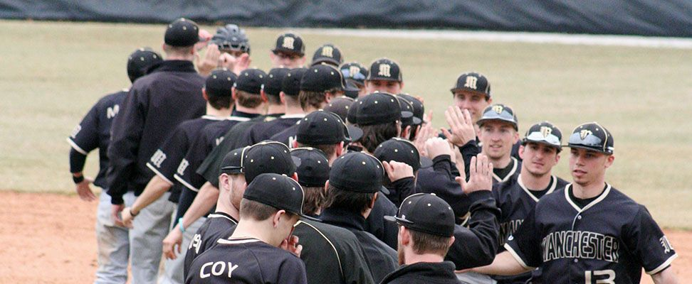 Manchester University Baseball - The NCAA #22 Spartans swept preseason HCAC #2 Franklin 3-0 this weekend in 29 degree weather to improve to 13-2-1 on the year.
