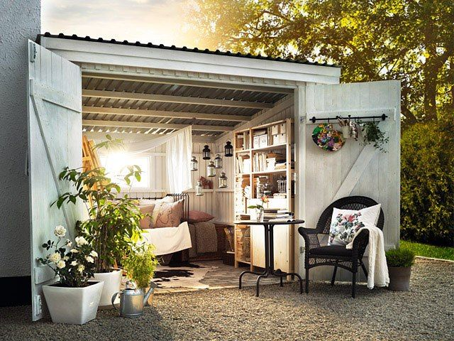 Gapahuk med stil | Hage | Pinterest | Garden ideas, Gardens and Backyard