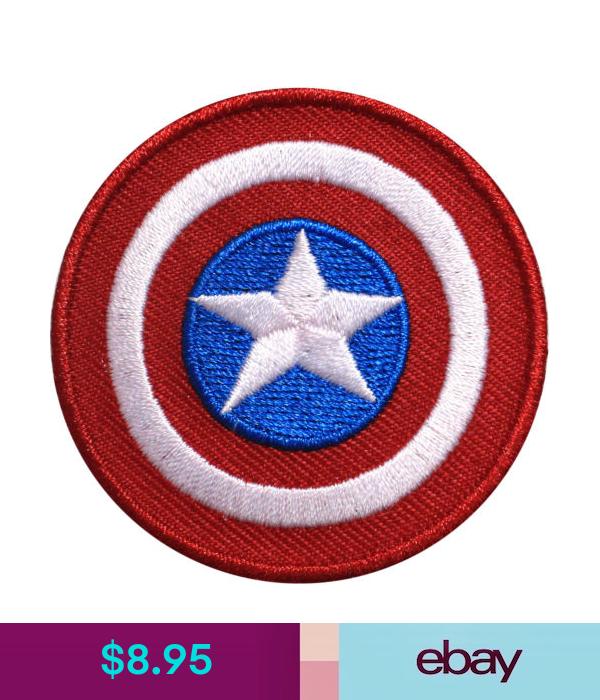 Official Marvel Comics Avengers Captain America Shield Civil War Iron On Patch Captain America Shield Marvel Comics Iron On Patches