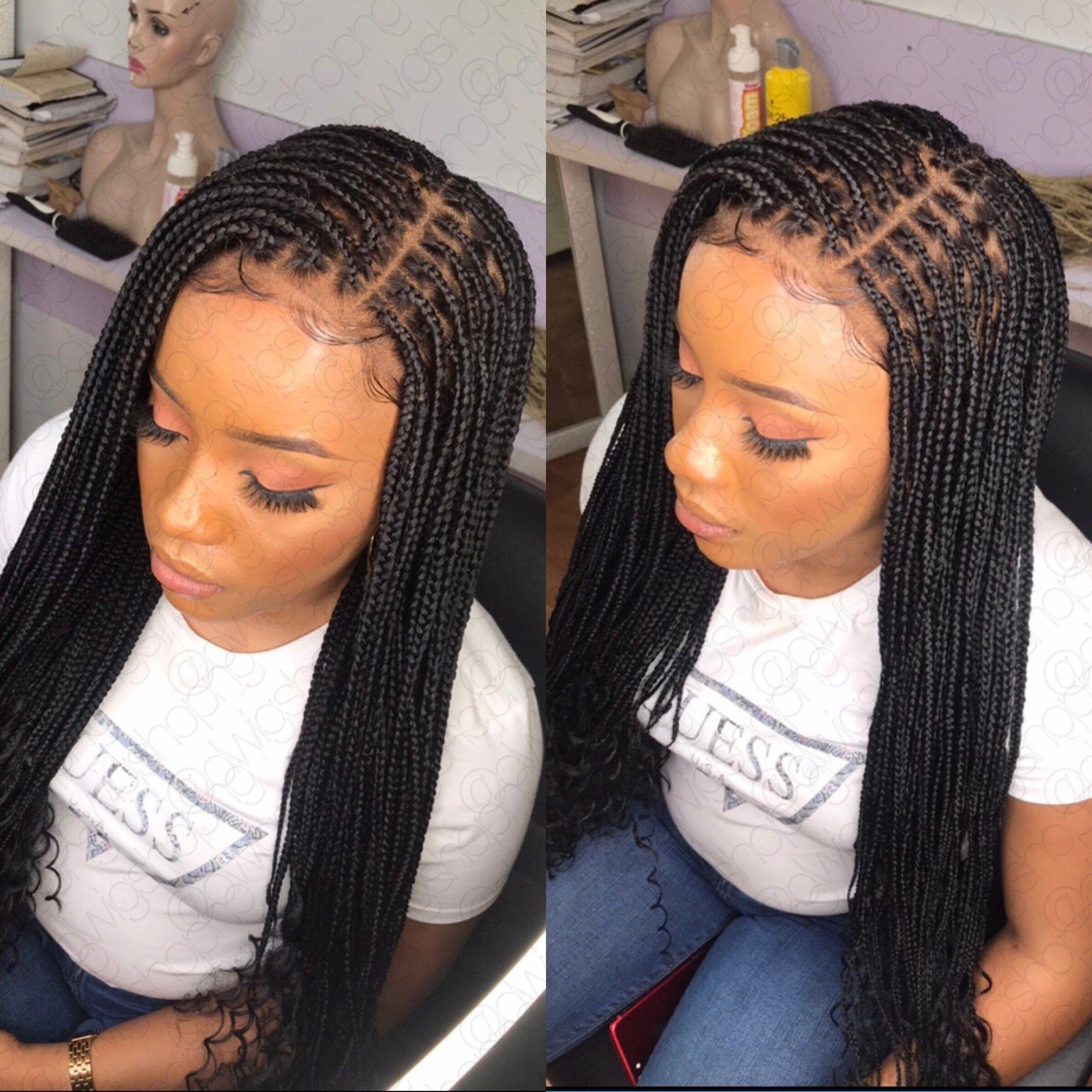 Box Braid Wig Goddess Box Braided Wig Curly Box Braids Image 0 Curlybraids Box Braids Hairstyles Braided Hairstyles Box Braids Styling