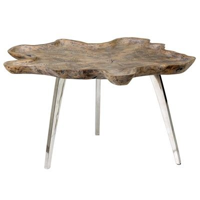 32 Allure Freeform Tray Coffee Table With Stainless Steel Base