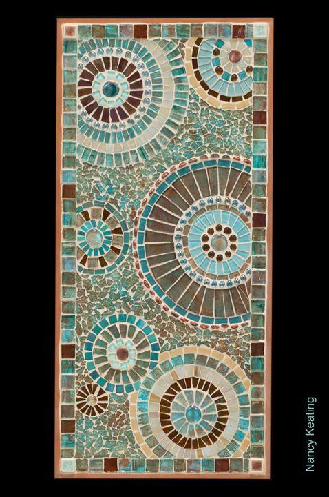 Copper Circles Mosaic Panel Created By Nancy Keating Sicis Mosaic Projets De Mosaique Tableaux En Mosaique