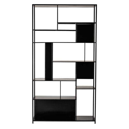 open kast met vakken, zwart metaal | Étagères | pinterest | etagere