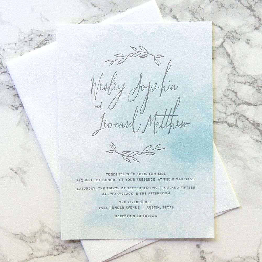 When Should Wedding Invitations Be Ordered: Watercolor Wedding Invitations
