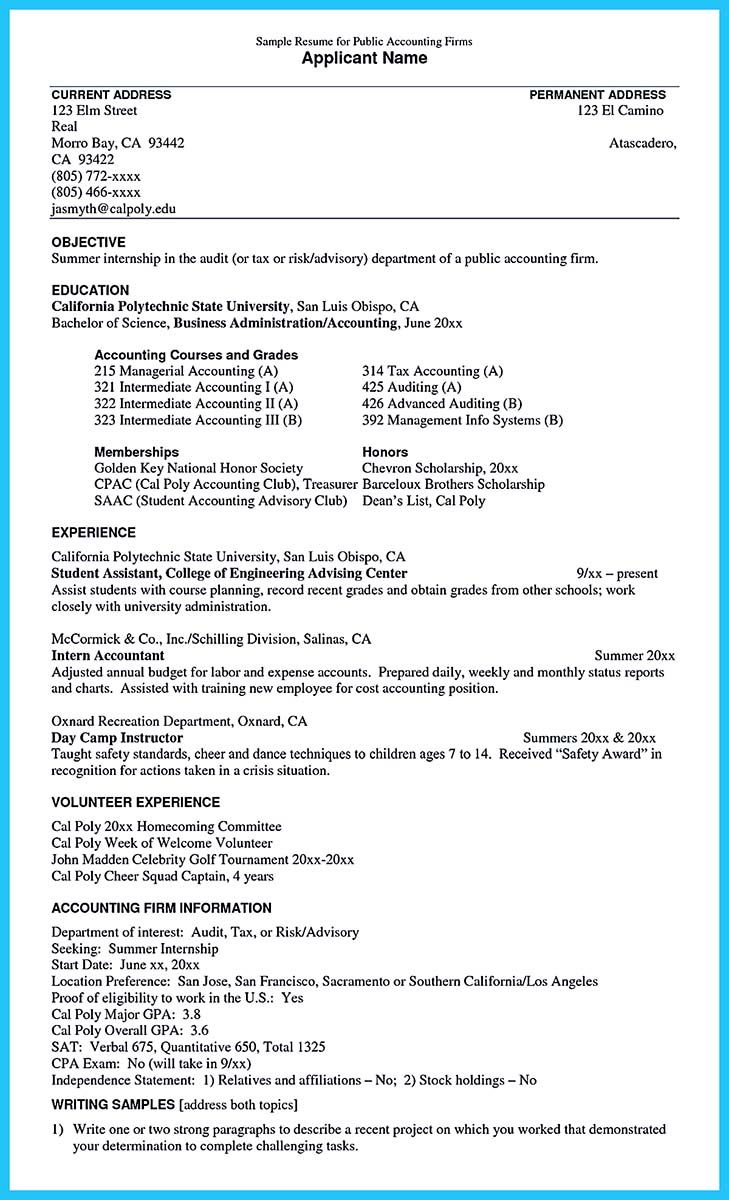 An Audit Resume Is Quite Important To Learn As You Are About To Apply For Job To Be An Auditor Here You Do No Internship Resume Sample Resume Resume Objective