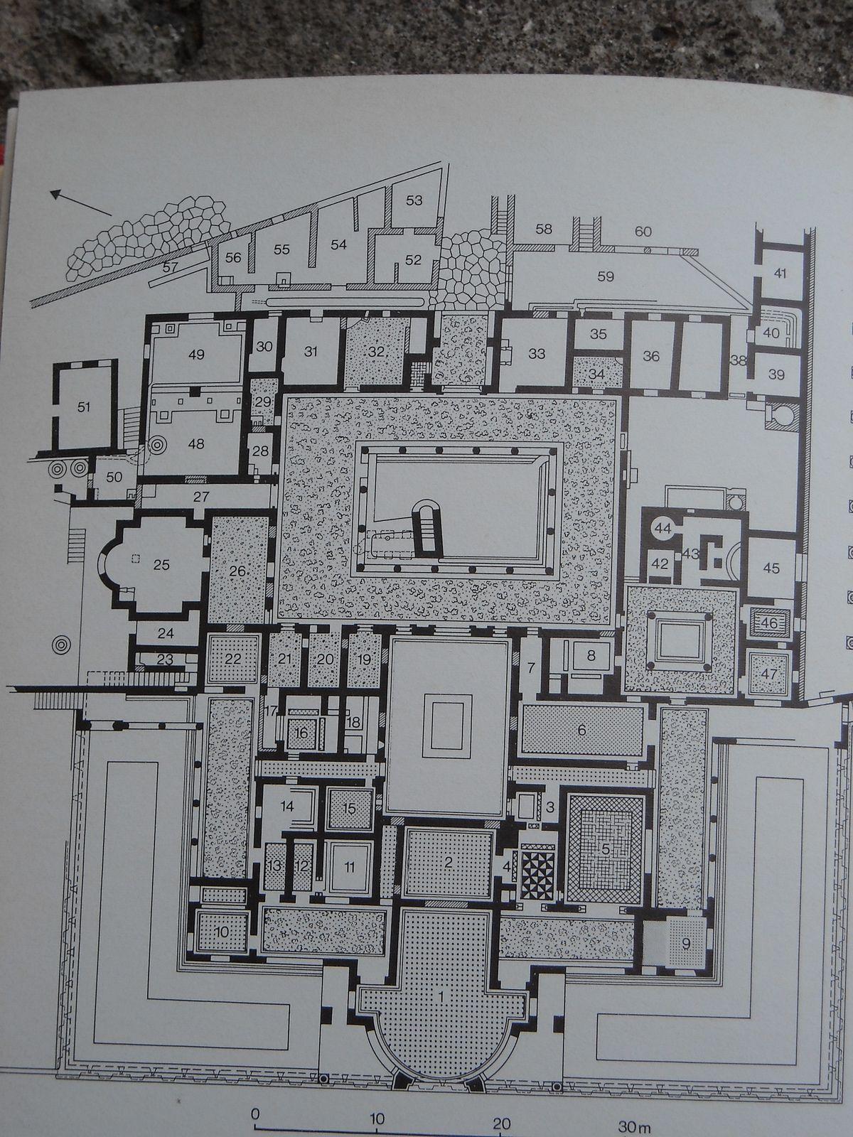 Plan Of The Villa Of The Mysteries At Pompeii Roman Villa Ancient Roman Houses Roman House