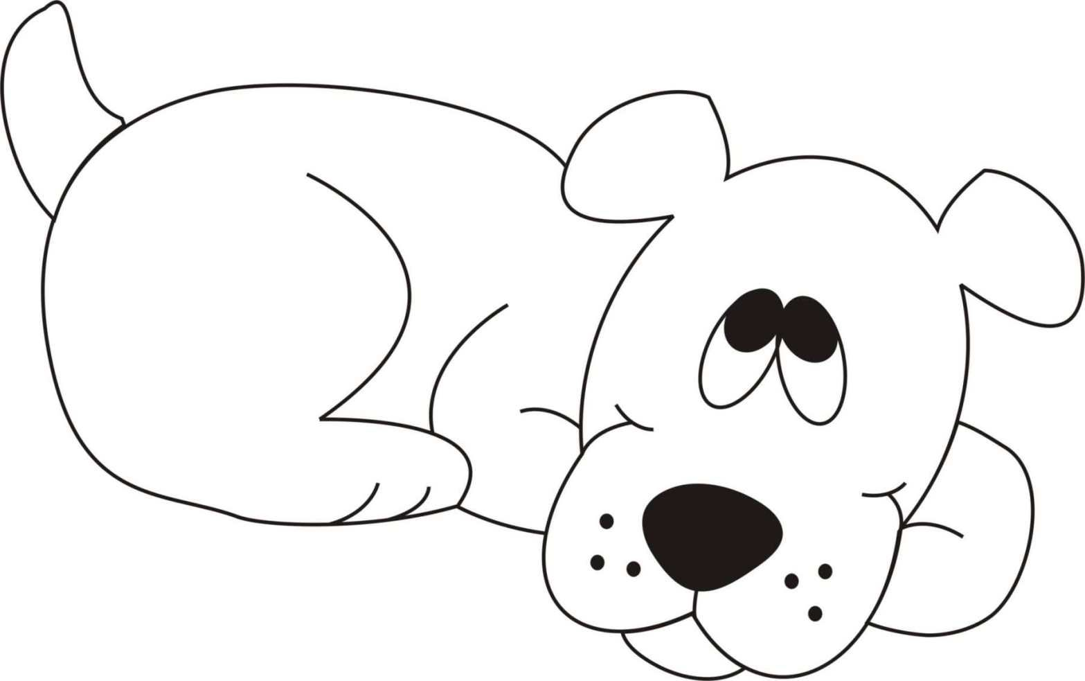 Dog Coloring Pages For Kids - Preschool Crafts | Dog Coloring Pages ...