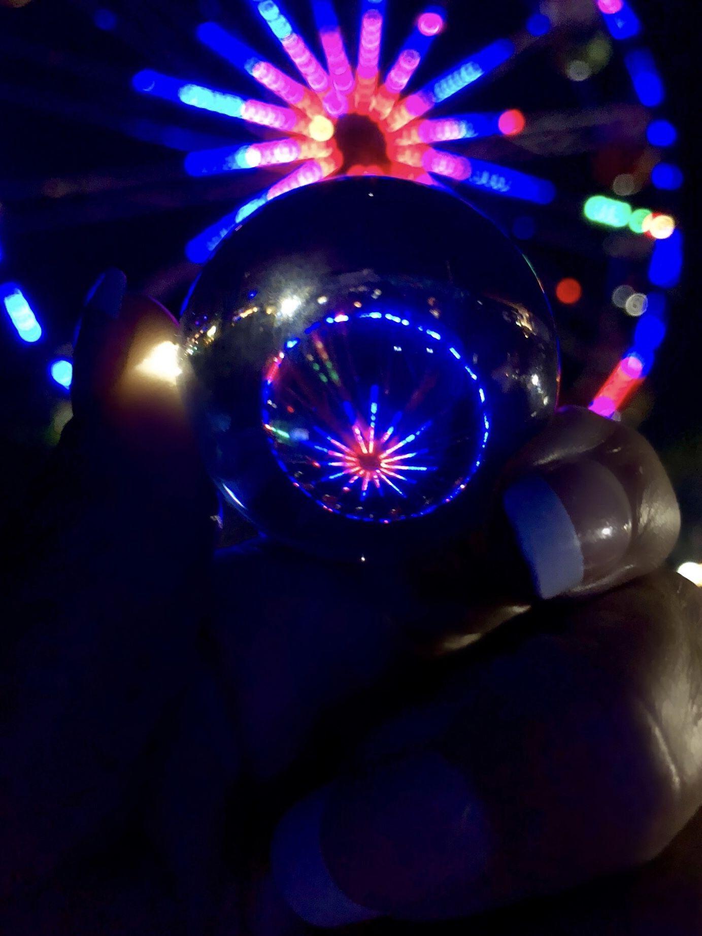 Ferris wheel in crystal ball crystals christmas bulbs