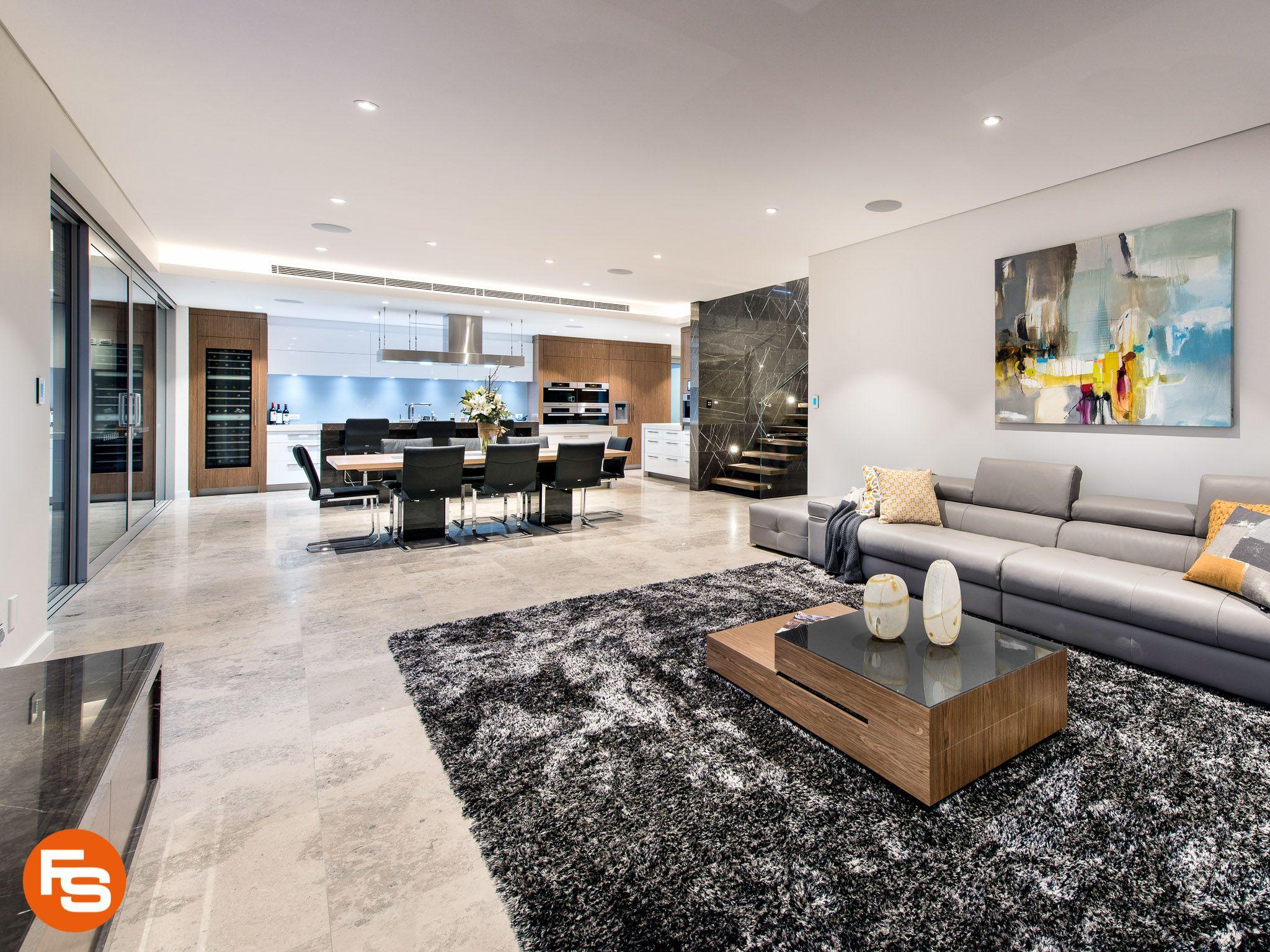 Ein Wohnzimmer Ausgelegt Mit Unserem Naturstein Jura Kalkstein Grau