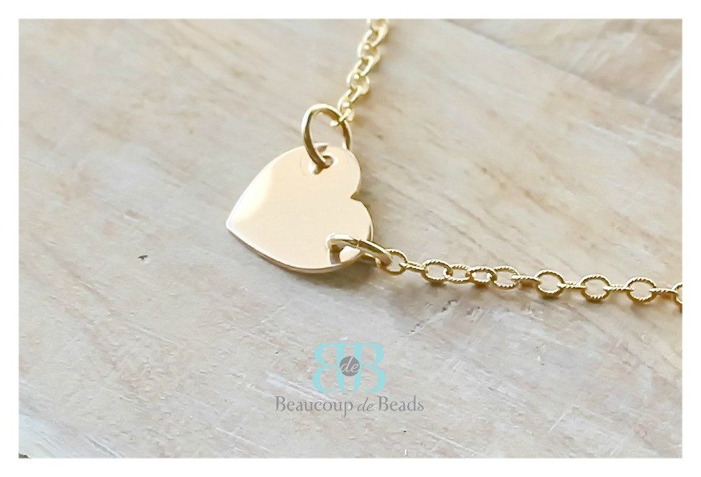 Golf heart necklace / tiny heart necklace / love necklace / everyday necklace by BeaucoupdeBeads on Etsy