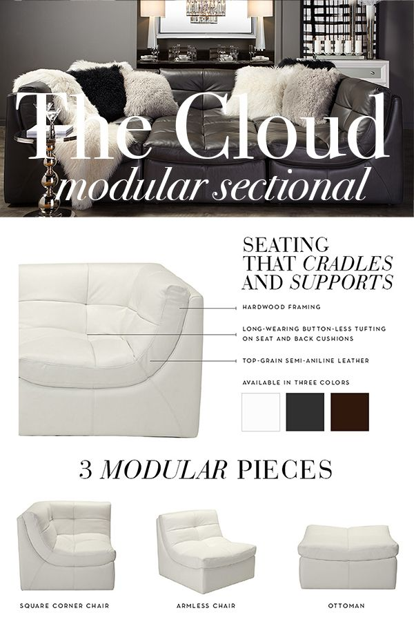 Fantastic Cozy Up With Cloud Our Best Selling Leather Sectional In Machost Co Dining Chair Design Ideas Machostcouk