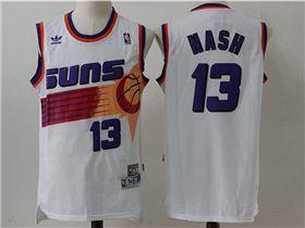0d26f4e00046 Phoenix Suns  13 Steve Nash White Hardwood Classic Jersey