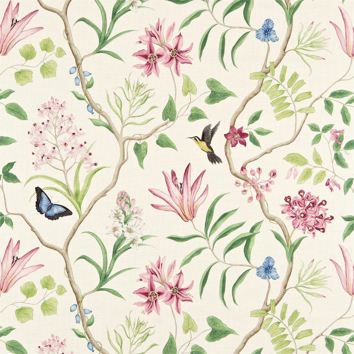 Products harlequin designer fabrics and wallpapers paradise - Sanderson Clementine Fabric Designer Fabrics And Wallpapers By Sanderson Harlequin Morris Osborne Little And Many
