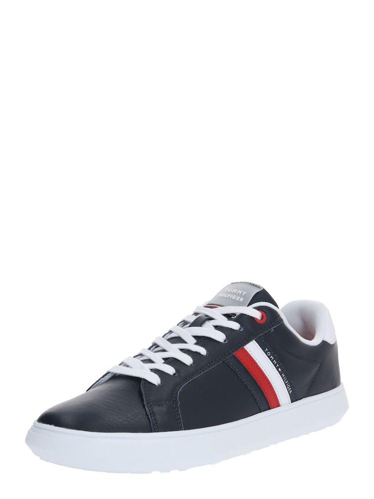 Tommy Hilfiger Sneaker Essential Herren Rot Dunkelblau Weiss Grosse 46 In 2020 Mit Bildern Tommy Hilfiger Sneaker Sneaker Dunkelblau
